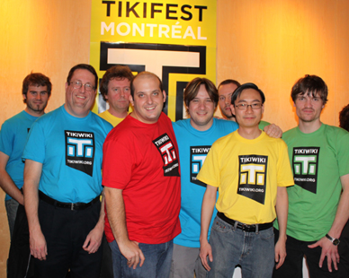 From left to right: ?, Lindon, Jonny Bradley, Pascal St-Jean, Marc Laporte, Sébastien Lord-Jetté, Nelson Koth, Philippe Cloutier