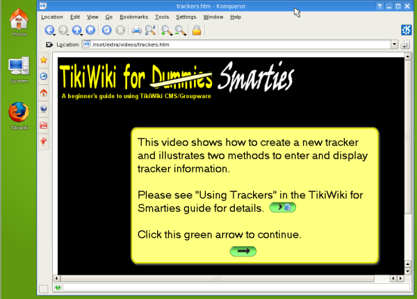 09: Example of one of the bundled videos and screencasts for viewing offline. See more online at http://tikiwiki.org/TikiMovies
